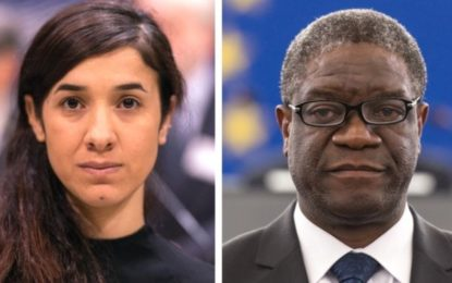 Nobel Peace Prize for anti-rape activists Nadia Murad and Denis Mukwege